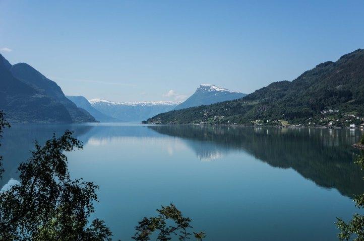 Der Lusterfjord, ein Seitenarm des Sognefjords